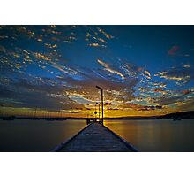 Jetty Sunset Photographic Print