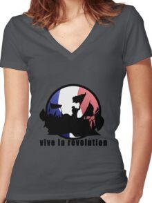 Vive la revolution Women's Fitted V-Neck T-Shirt