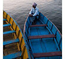 On Phewa Lake Photographic Print