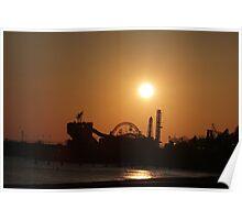 beach, rides, sunset Poster