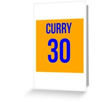 STEPH CURRY BLUE 30 Greeting Card
