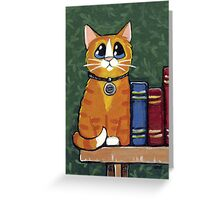 A Ginger Book End Greeting Card