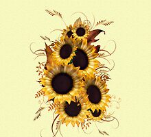 sunflowers .. iphone case by LoneAngel