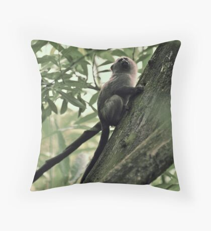 Monkeying about Throw Pillow