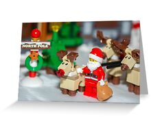 Santa and the reindeers  Greeting Card