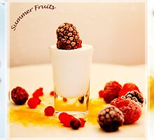 Summer fruits dessert by Andrew Robinson
