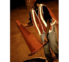 Road Worker Photographic Print