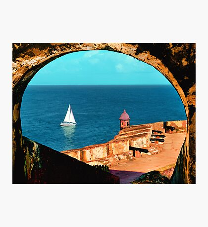 Sailboat at Morro Castle Photographic Print