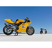Ducati Supersport 900 and Ducati SS 900 on the salt Photographic Print
