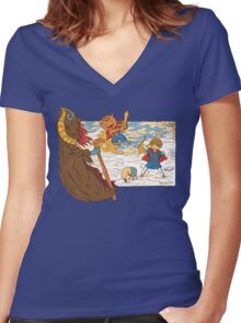 The Other World  Women's Fitted V-Neck T-Shirt