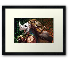 Head Hunter Framed Print