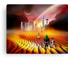 Sorry ~ only robots left here, too  Canvas Print