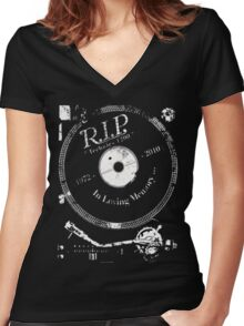 RIP Technics Women's Fitted V-Neck T-Shirt