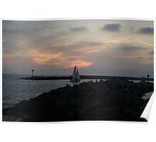 Sunset at Redondo Beach Pier Poster