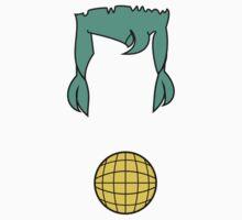 Cap. Planet Hair & Logo Minimalism  Baby Tee