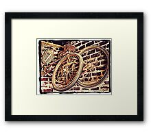 """""""Elvis Presley's Bicycles"""" Framed Print"""
