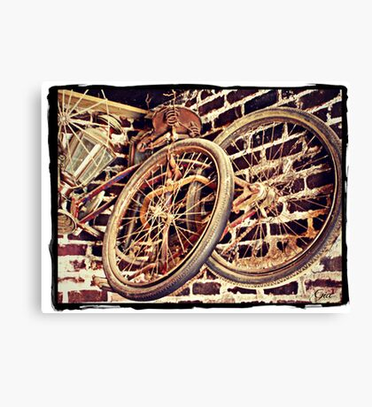"""Elvis Presley's Bicycles"" Canvas Print"