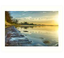 An April morning on the Estuary Art Print