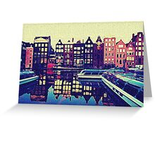 AMSTERDAM AND BOATS Greeting Card