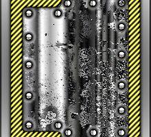 Metal Rivet Warning Tape Design by Sookiesooker