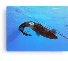 Underwater Squid Canvas Print