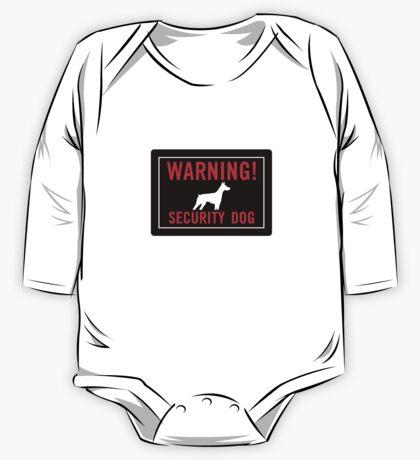 Warning! Security Dog One Piece - Long Sleeve