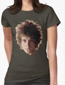 Bob Dylan Big Hair Womens Fitted T-Shirt