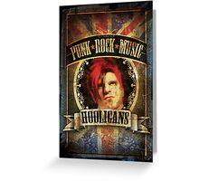 Punk Rock Music Greeting Card