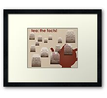 tea: the facts! Framed Print