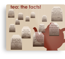 tea: the facts! Metal Print