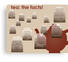 tea: the facts! Canvas Print