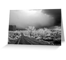 Courthouse Wash in Black and White. Greeting Card
