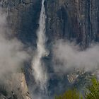 Upper Yosemite Falls, Clearing Spring Storm by photosbyflood