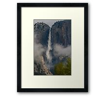 Upper Yosemite Falls, Clearing Spring Storm Framed Print