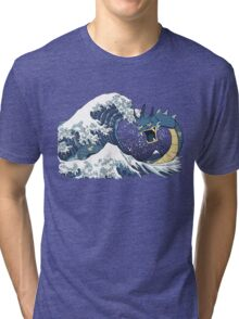 The Great Wave off Mt. Moon Tri-blend T-Shirt