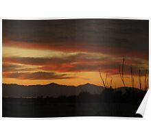 Sunset at Salton Sea, Ca Poster