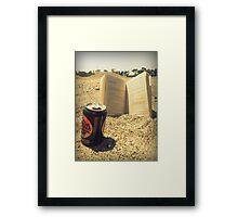 Beach, Beer, Bukowski Framed Print