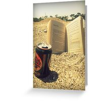 Beach, Beer, Bukowski Greeting Card