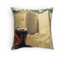 Beach, Beer, Bukowski Throw Pillow