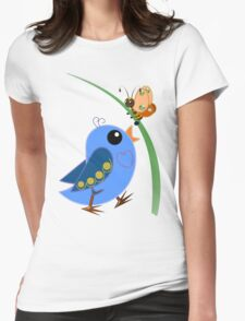 The Bird and the Butterfly Womens Fitted T-Shirt