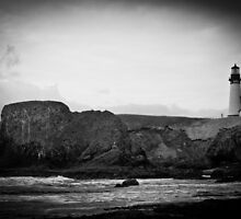 Yaquina Head Lighthouse 1 by Robert  Miner