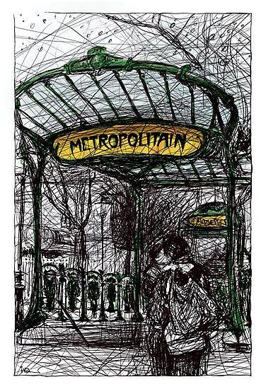 Montmartre 4 in colour by Tatiana Ivchenkova