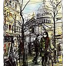 Montmartre 5 in colour by Tatiana Ivchenkova