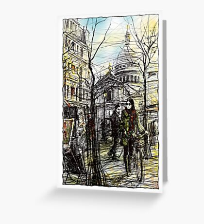 Montmartre 5 in colour Greeting Card