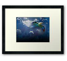 The beauty of flight Framed Print