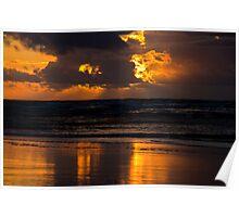 Springtime sunset Poster