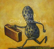 Peanut with Suitcase by Cindy Schnackel