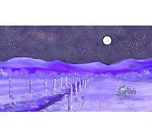 Cold Winter Night  Photographic Print