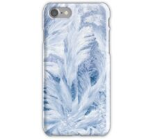 Blue and White Frost Pattern iPhone Case/Skin