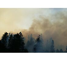 Fire in Moutains Photographic Print